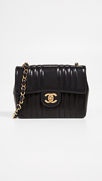 9db4b1566166 What Goes Around Comes Around Chanel Vert Flap Mini Bag In Black ...