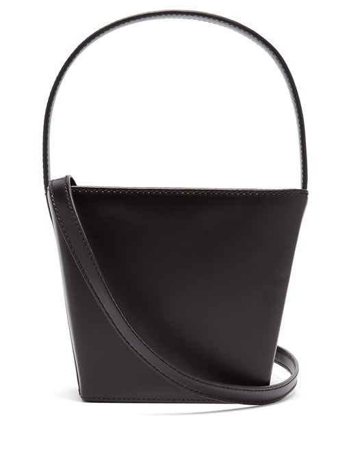 Staud Black Edie Boxy Bucket Bag