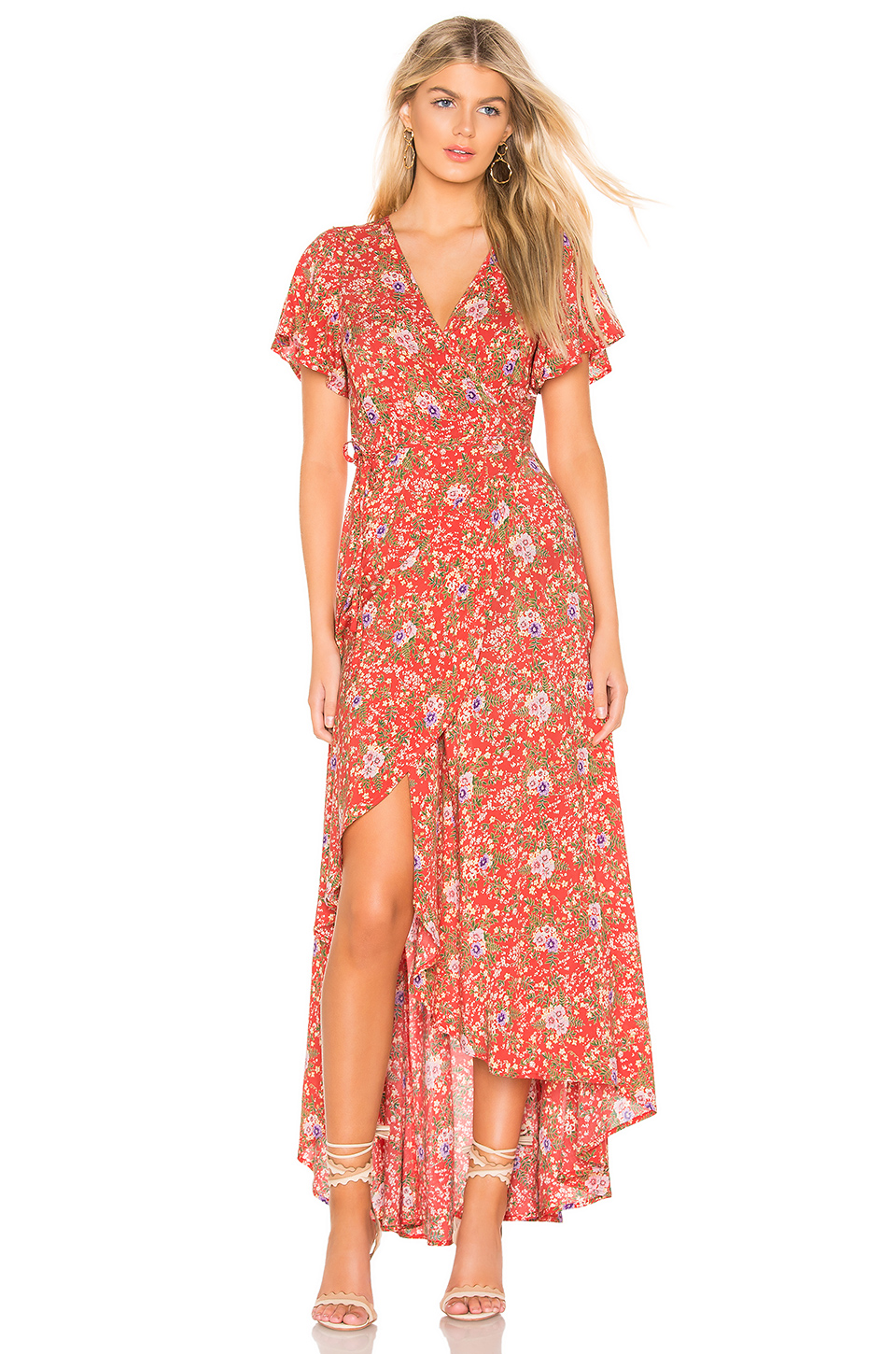 ccf872616615 Auguste X Revolve Ophelia Muse Wrap Maxi Dress In Red | ModeSens