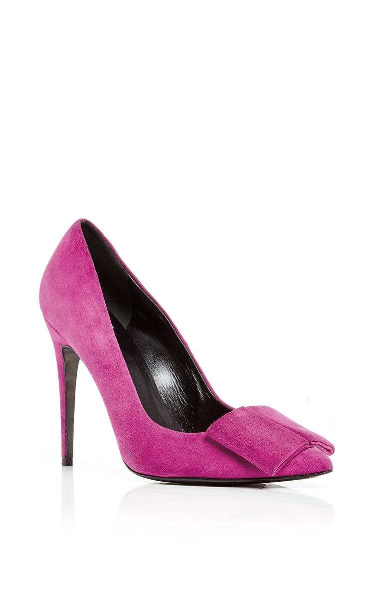 Pierre Hardy Pink Suede Obi Pumps