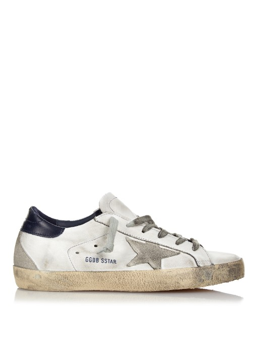 Golden Goose Superstar Leather Low-Top Sneaker, White