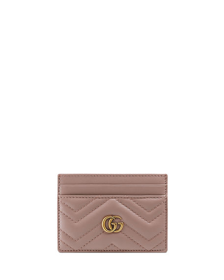 93fca57b88791 Gucci Gg Marmont Matelasse Card Case In Neutrals