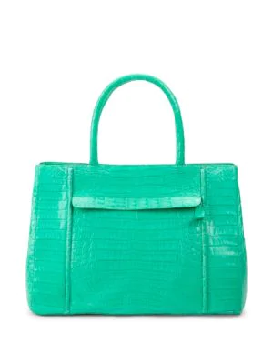 Nancy Gonzalez Crocodile Leather Satchel Bag In Mint