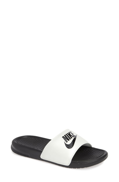 finest selection 09e62 ab225 Nike Benassi Jdi Slide Sandal In Spruce Aura  Black  Black