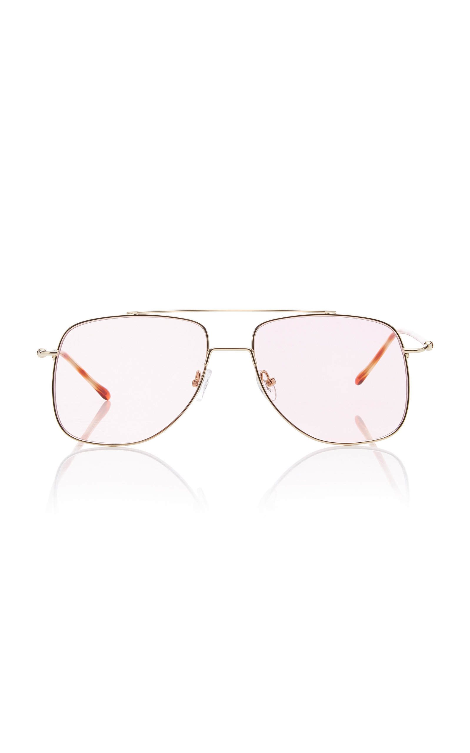 34266d7cd Spektre Maranello Aviator-Style Silver-Tone Sunglasses In Pink ...