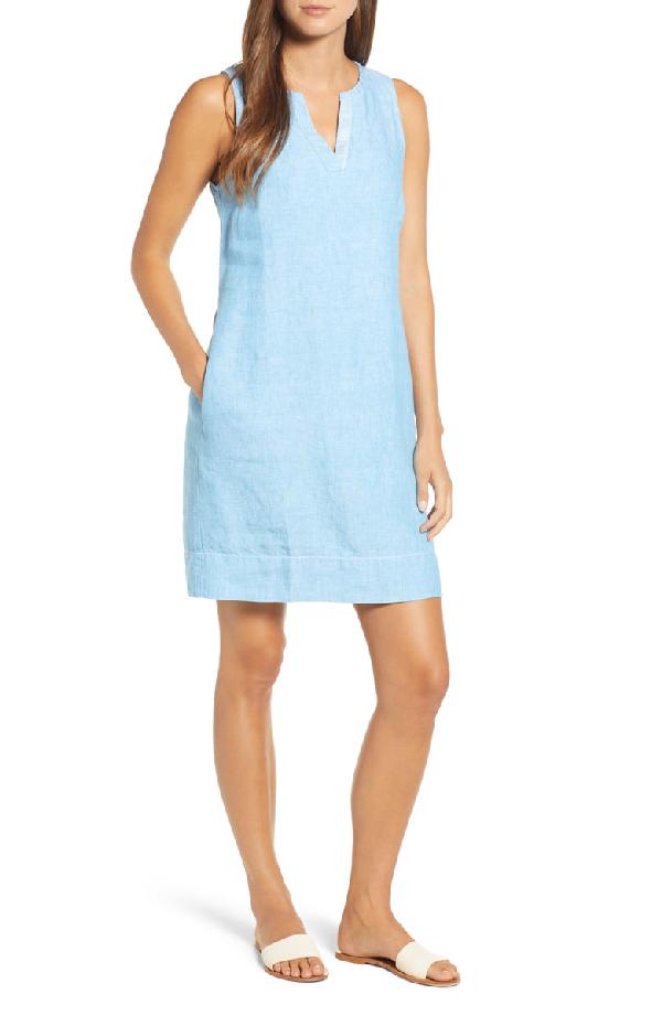53048ae9b3d Tommy Bahama Seaglass Sleeveless Linen Shift Dress In Scandia Blue ...