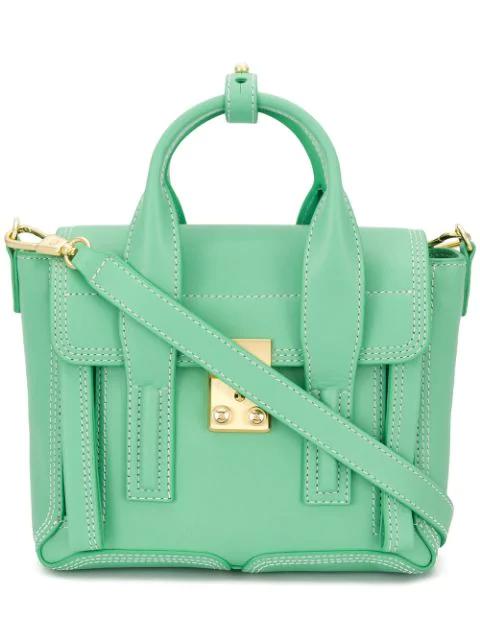 3.1 Phillip Lim 'Pashli Medium' Grainy Leather Satchel Bag In Green