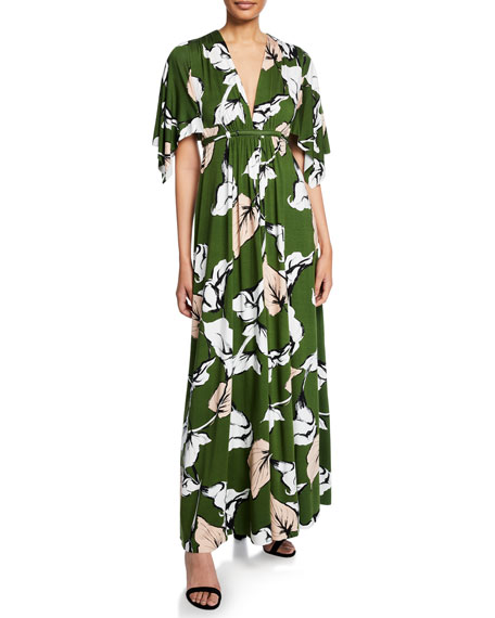 d5c625847bfac Rachel Pally Plus Size Long Floral-Print Jersey Caftan Dress In Calla Print