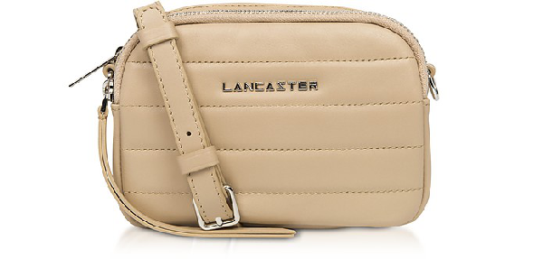 Lancaster Parisienne Couture Mini Crossbody Bag In Nude
