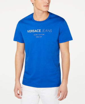 Versace Jeans Men's Logo Graphic T-Shirt In Royal Blue