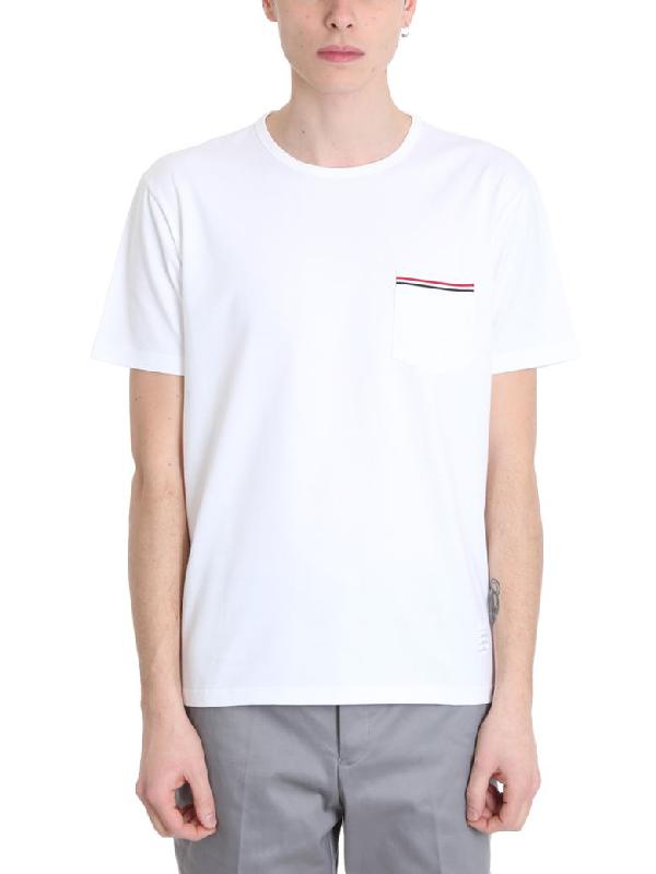 Thom Browne White Cotton T-Shirt