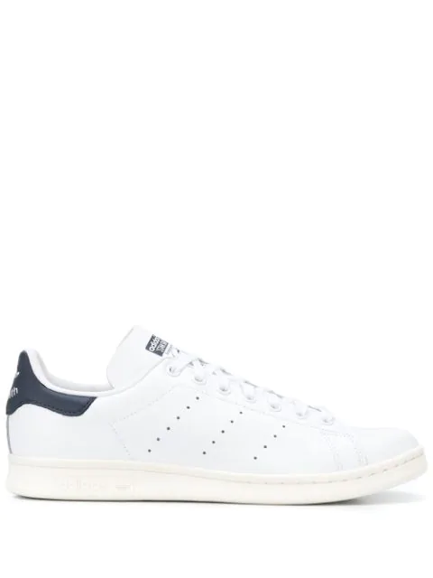Adidas Originals Stan Smith Leather Sneakers In White M20325 - White In White/darkb