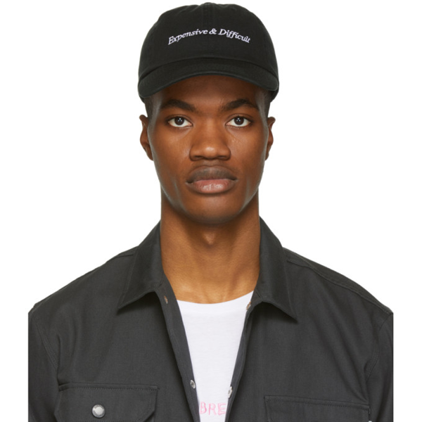 Nasaseasons Expensive & Difficult Embroidered Baseball Cap In Black/white