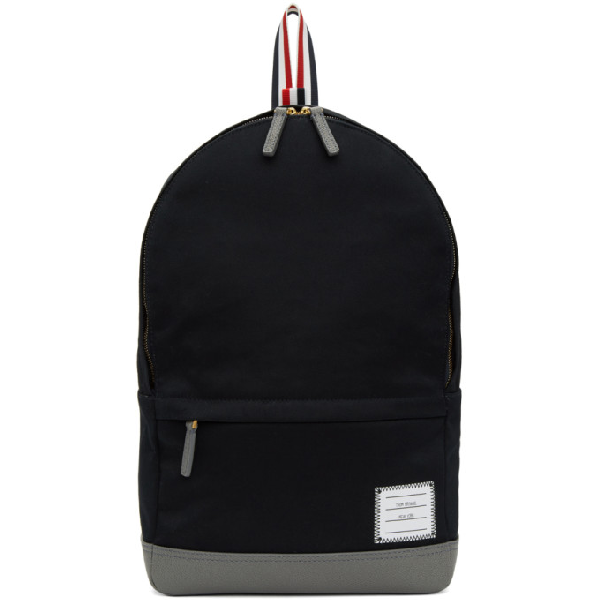 8ffb93c2eb Thom Browne Unstructured Cotton Twill Backpack In 415 Navy | ModeSens