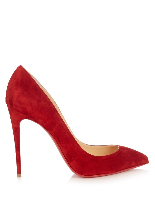 024733a3746 Christian Louboutin Pigalle Follies 100Mm Suede Pumps In Red