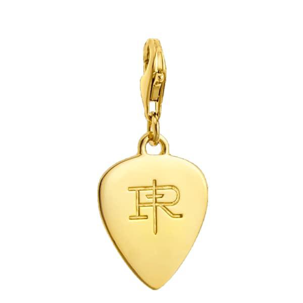 True Rocks 18ct Gold Plated Plectrum Charm