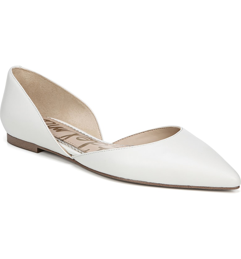 c89a6d997ee28b A d Orsay profile makes this pointy-toe flat an impeccably polished go-to  style whether you re on or off the clock. Style Name  Sam Edelman Rodney  Pointy ...
