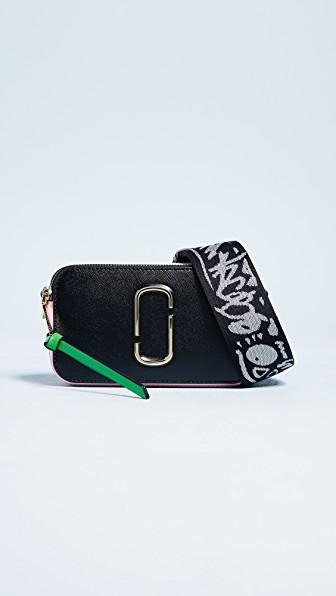 Marc Jacobs Snapshot Camera Bag In Black/baby Pink