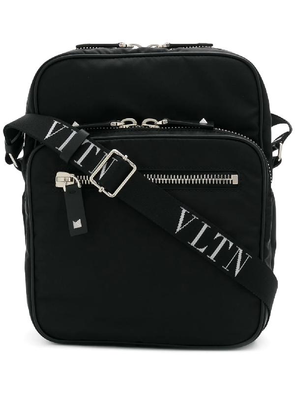 cf76ff5717c46 Valentino Vltn Cross-Body Bag In Black   ModeSens