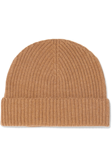 7755c1c51dab9d Johnstons Of Elgin Ribbed Cashmere Beanie In Camel | ModeSens