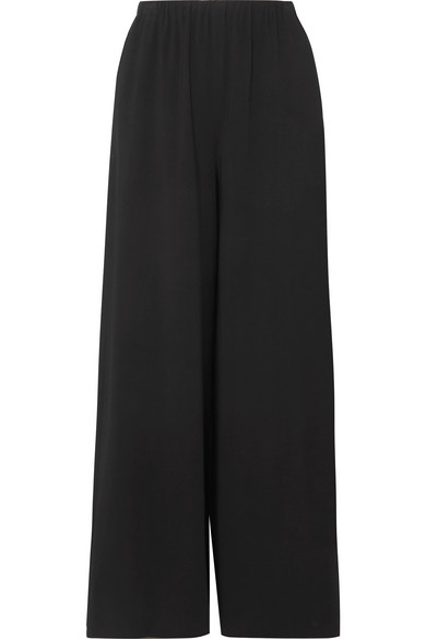 The Row Pavel Crepe Wide-Leg Pants In Black