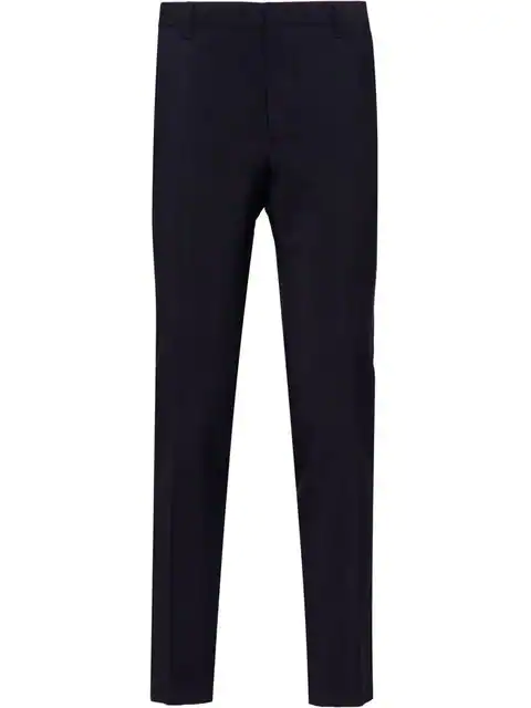 Prada Concealed Fastening Tailored Trousers In Blue