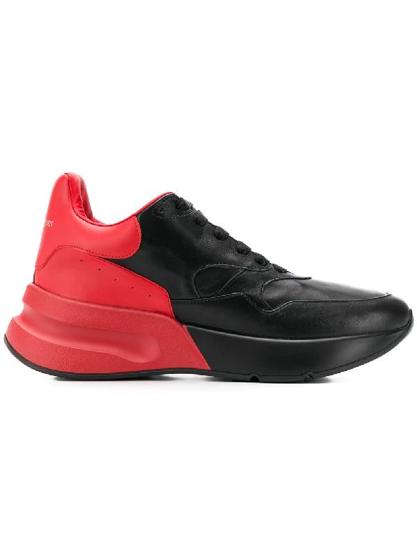 Alexander Mcqueen Oversized Runner Sneakers In Black
