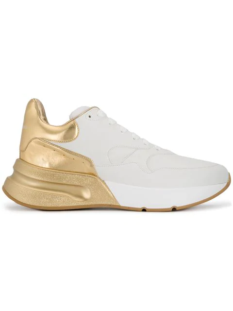 Alexander Mcqueen Oversized Runner Sneakers In White
