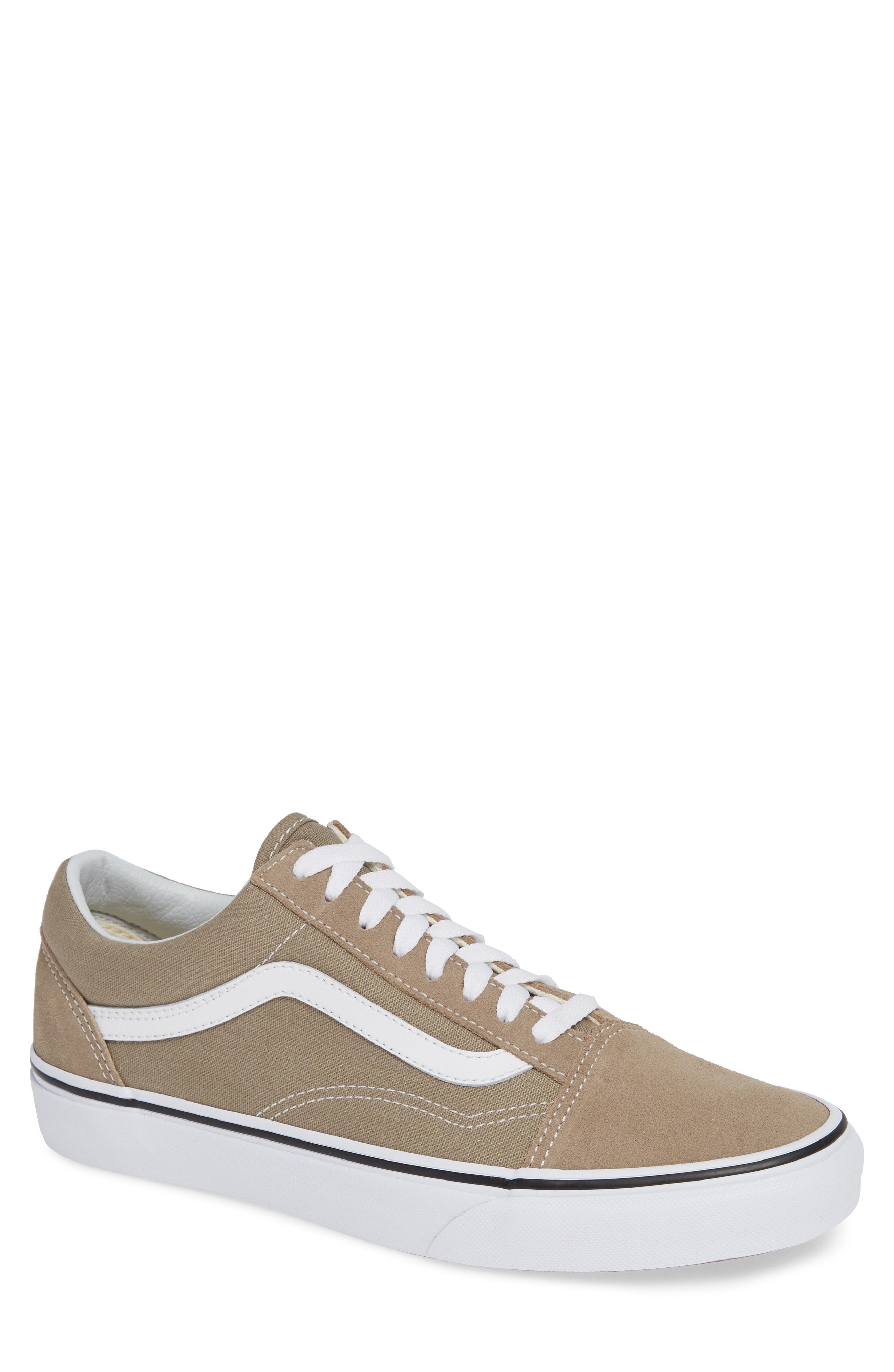 26814de076e844 Vans  Old Skool  Sneaker In Desert Taupe  White Canvas