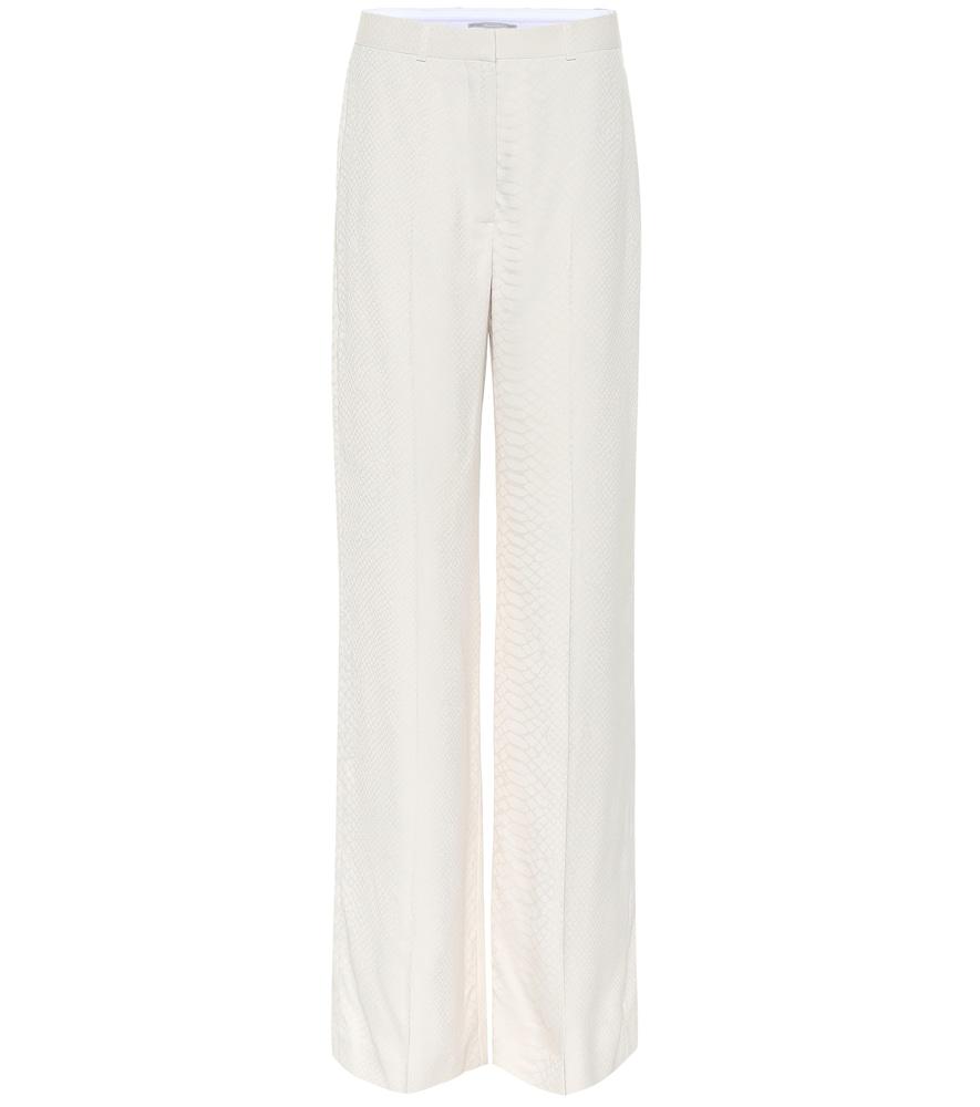 Stella Mccartney High-Rise Wide-Leg Pants In White