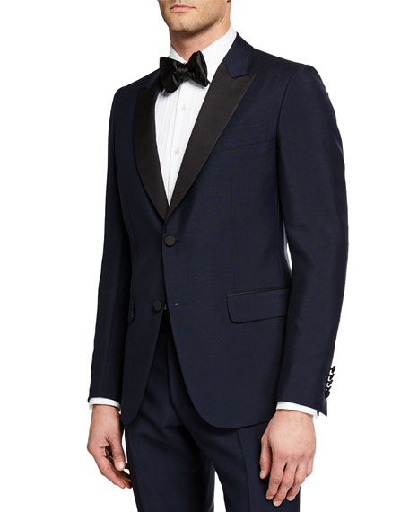 Gucci Men's Wool Two-Piece Tuxedo Suit In Blue