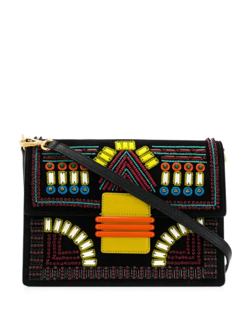 Etro Rainbow Tappeto Africa Shoulder Bag In Black