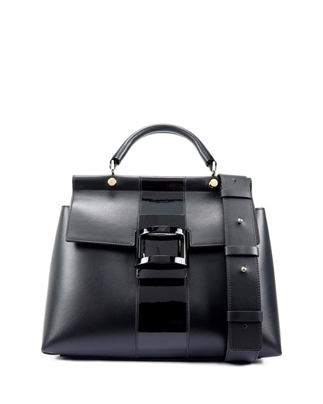 7a6428b12825 Roger Vivier Viv Cabas Small Satchel Bag In Black