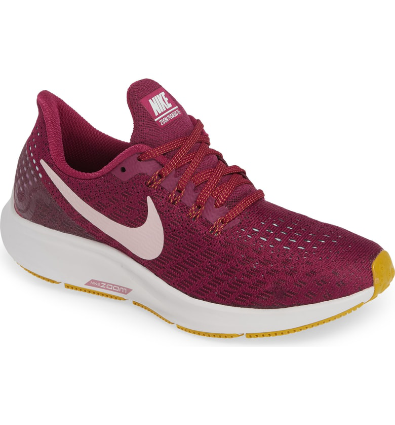 d5c8fad5d37 Nike Air Zoom Pegasus 35 Running Shoe In True Berry  Plum Chalk  Grey