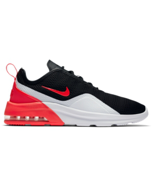 Nike Men's Air Max Motion 2 Casual Sneakers From Finish Line In Black/Red Orbit-White