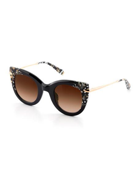 Krewe Laveau Cat-eye Sunglasses, Brown Tortoise In Zulu
