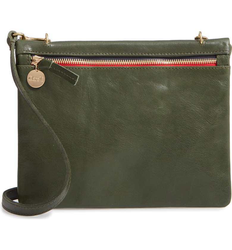 eb7716d3c Clare V Jumelle Leather Crossbody Bag - Green In Loden Rustic | ModeSens