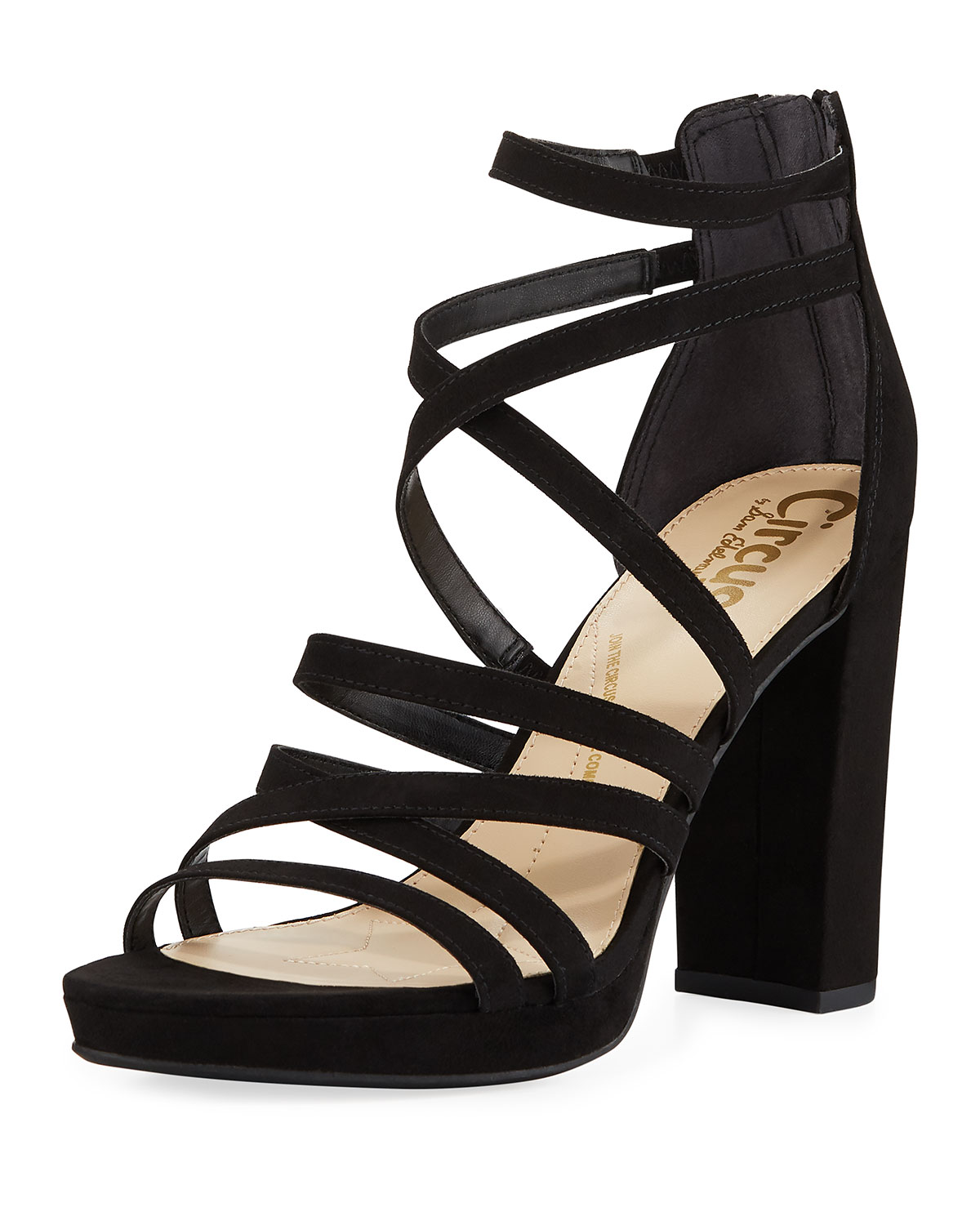 94d9a2e90 Circus By Sam Edelman Adele High-Heel Strappy Sandals In Black ...