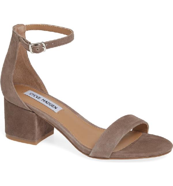 df4a3cd2d580 Steve Madden Irenee Ankle Strap Sandal In Light Grey Suede   ModeSens