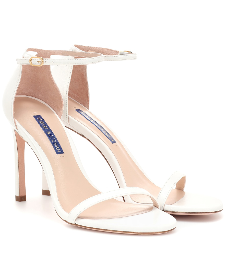 Stuart Weitzman Nudistsong Leather Sandals In White