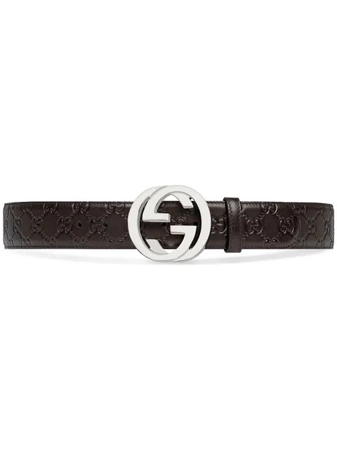 Gucci Signature Leather Belt In Brown
