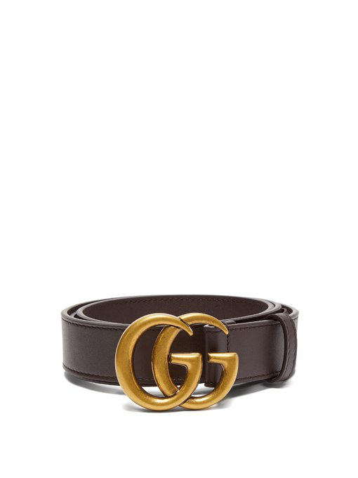 b3306838f418 Gucci Gg Leather Belt In Brown | ModeSens