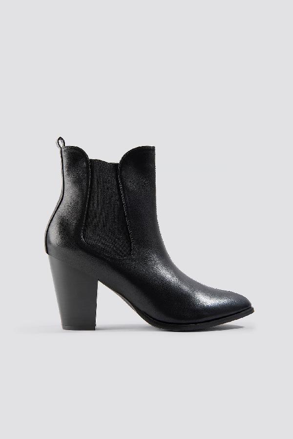 Na-kd High Heel Pu Boot - Black