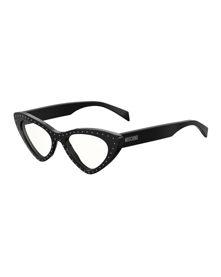 Moschino Women's Slim Cat Eye Optical Glasses, 52mm In Black