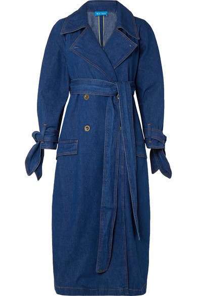 fa90f2cd8f95 M.I.H Jeans Audie Belted Denim Trench Coat In Dazzling Blue