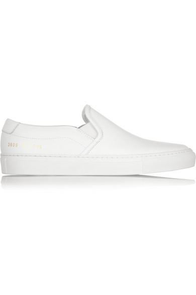 ffe236435299 Common Projects Woman Leather Slip-On Sneakers White