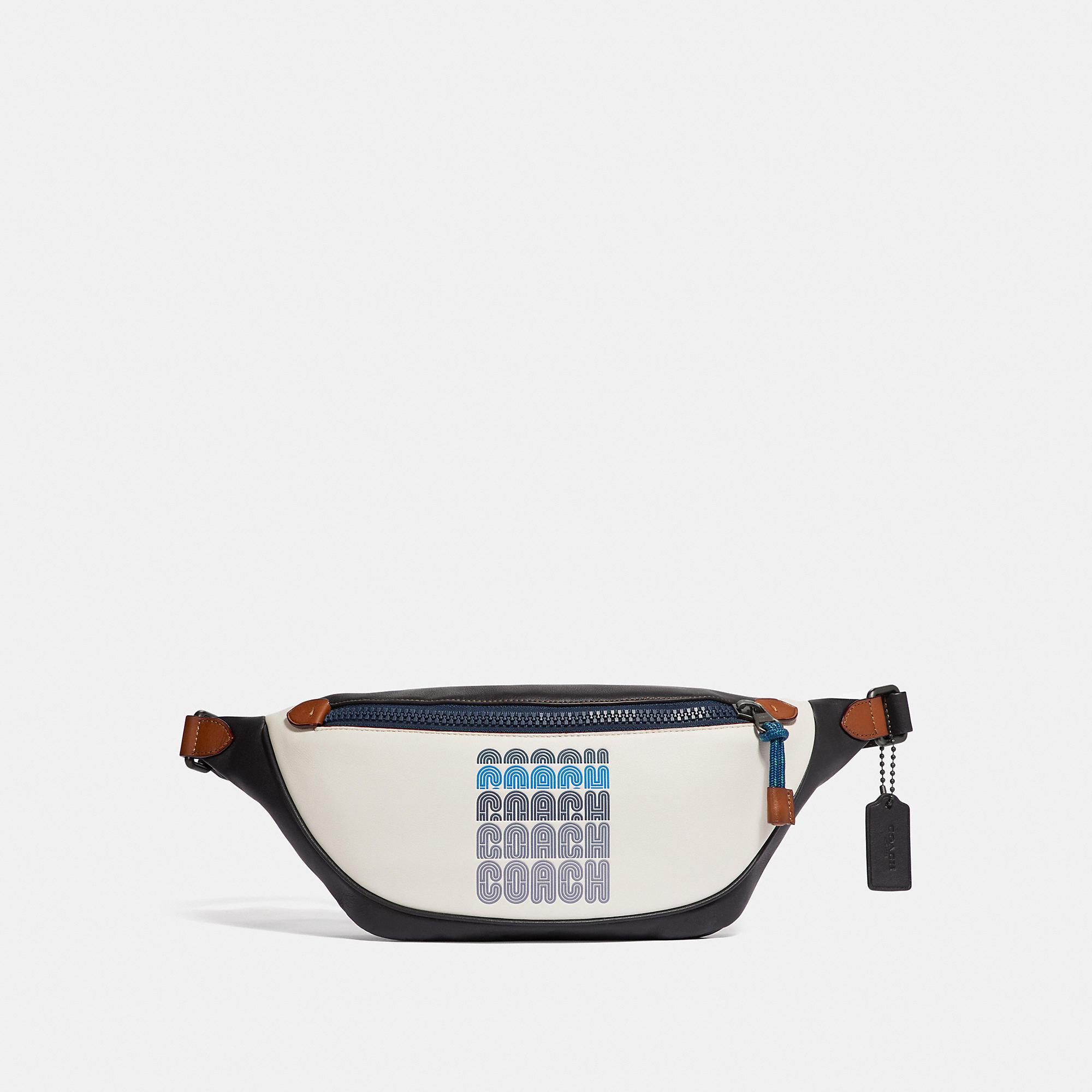 a129c06a6b Rivington Logo Print Leather Belt Bag in Black Copper/Chalk/Black