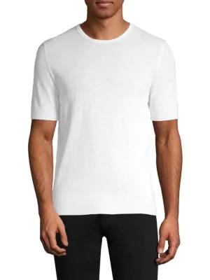 Boglioli Cotton Knit T-Shirt In White