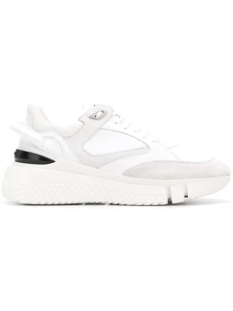 Buscemi Veloce Mixed-Material Sneakers In White
