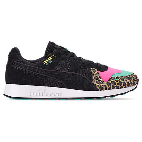 puma men's rs100 animal print casual shoes black  modesens